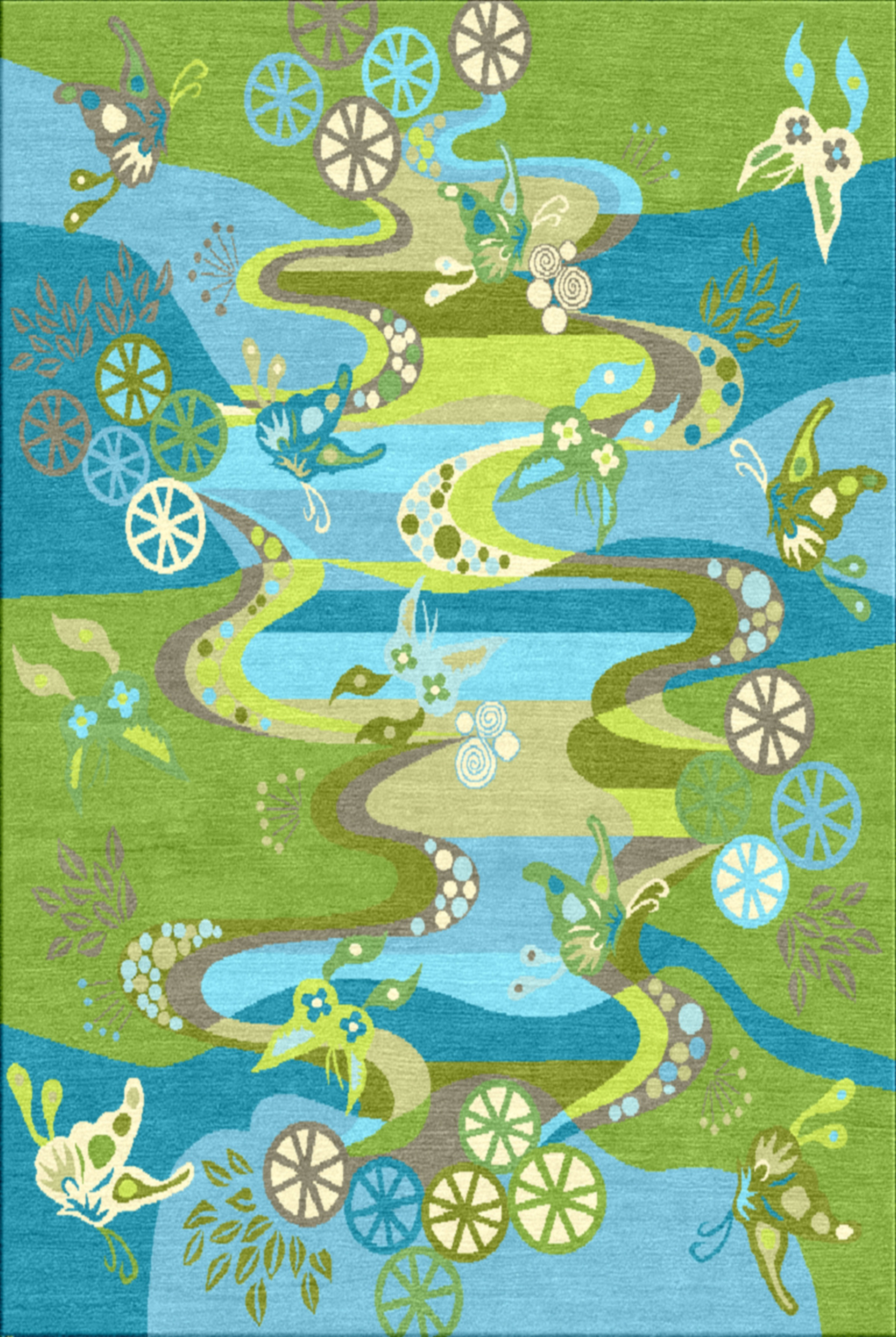 Chinese River Undersea Contract Carpets Collection